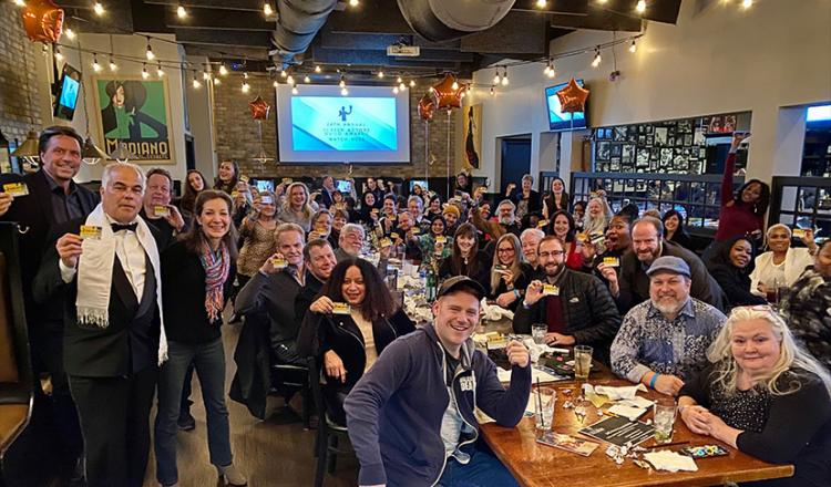 Members enjoyed a celebratory evening at their local SAG Awards viewing party at Zucca Bar & Pizzeria. Photo by Noel Reitz