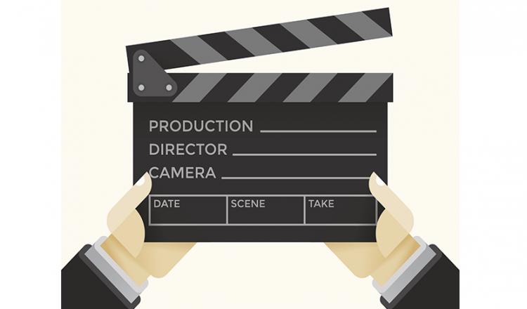 Film Clapper on Set