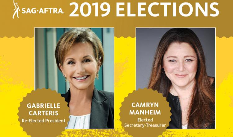 Gabrielle Carteris re-elected SAG-AFTRA President; Camryn Manheim elected Secretary-Treasurer.
