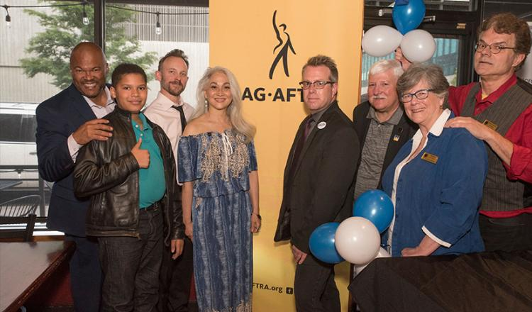 Members of the SAG-AFTRA Colorado Local and family at the Tony Awards Viewing Party on June 9