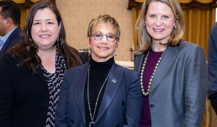 From left, SAG-AFTRA Executive Vice President and New Technology and Innovation Committee Chair Rebecca Damon, President Gabrielle Carteris and AFL-CIO Secretary-Treasurer Liz Shuler at the 2nd Annual Labor Innovation and Technology Summit in Las Vegas.