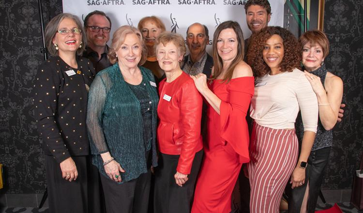 The Dallas-Fort Worth Local Board members on the red carpet on Jan. 27.