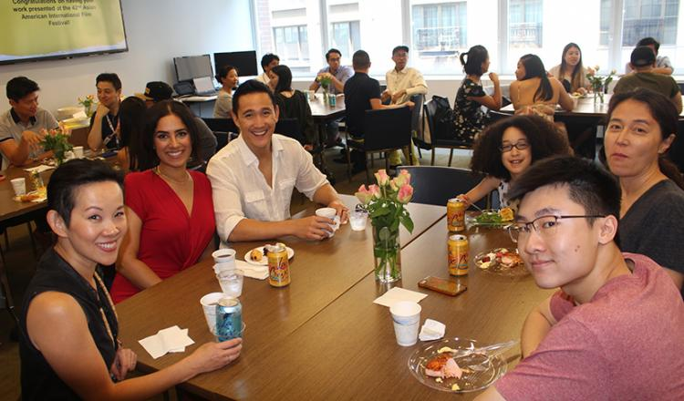 Filmmakers and performers enjoy the 5th annual filmmakers' brunch at the SAG-AFTRA New York office during the 42nd Asian American International Film Festival on July 26.