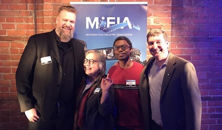 SAG-AFTRA Michigan Local Board members Jay Adams, Sonya Avakian, PJ Edwards and Local President Eric Wydra
