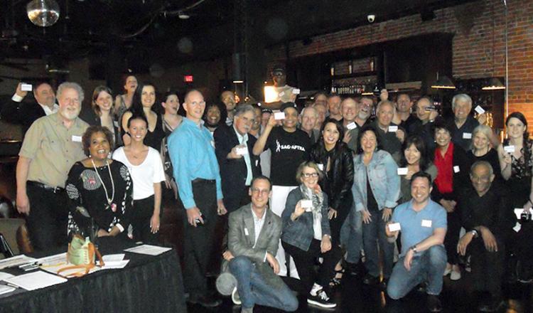 Members show their pride at the May 21 membership meeting.