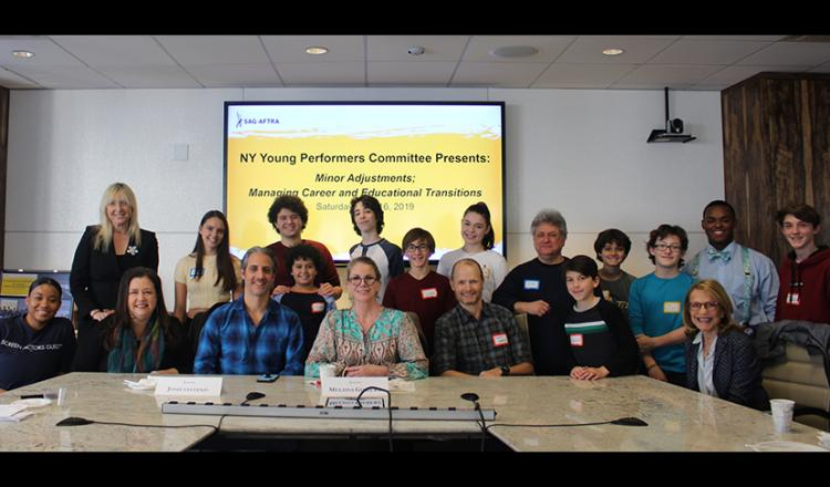 SAG-AFTRA leadership, panelists and young performers at the Nov. 16 workshop.
