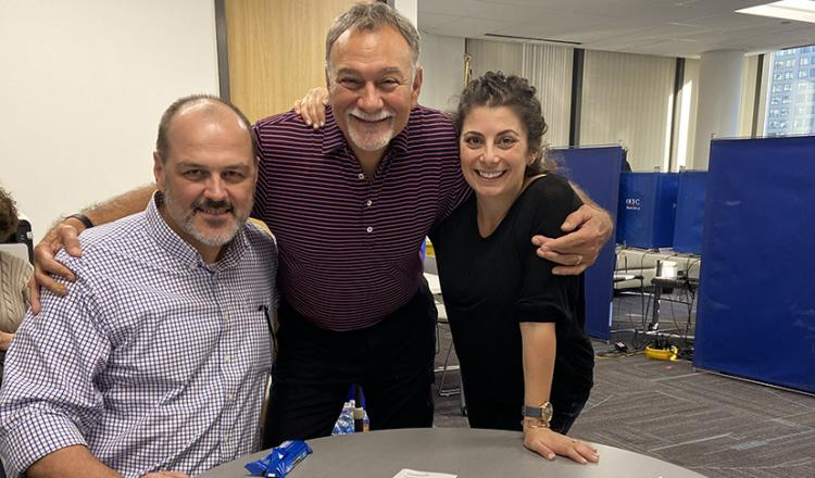 SAG-AFTRA Chicago Local Executive Director Eric Chaudron, left, and Local Board members Antonio Castillo and Courtney Rioux.