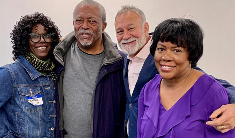 From left, members Melba Brown, Cedric Young, Tony Castillo and Cynthia Abernathy