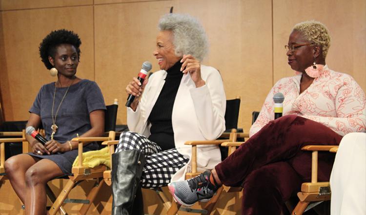 Desde la izquierda, Délé Ogundiran, Lavelle Roby y Cheryl Francis Harrington el 28 de febrero.