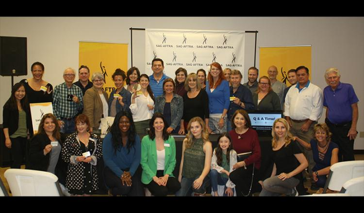 A group shot of Houston-based SAG-AFTRA members.