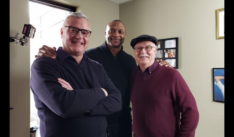 From left, Nashville Executive Director Richard Van Syckle, member Eddie George and Nashville President Mike Montgomery.