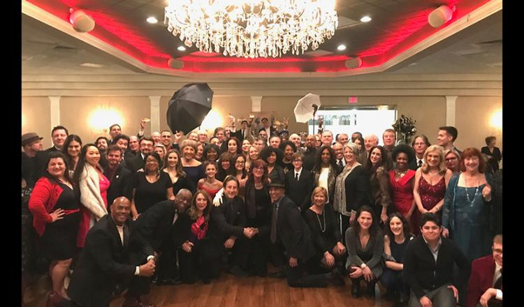 Members of the SAG-AFTRA Philadelphia Local celebrate the SAG Awards at their local viewing party on Jan. 19.