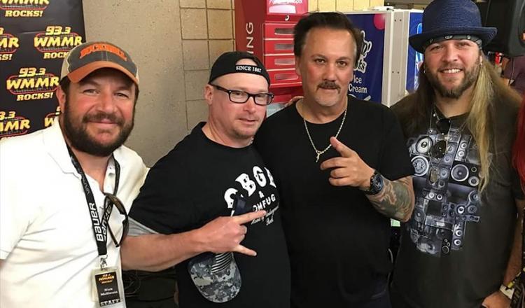 From left, member and WMMR DJ Nick McIlwain, National Board member Mike Kraycik, Local Board member John R. Mitchell, and member and WMMR DJ Brent Porsche.