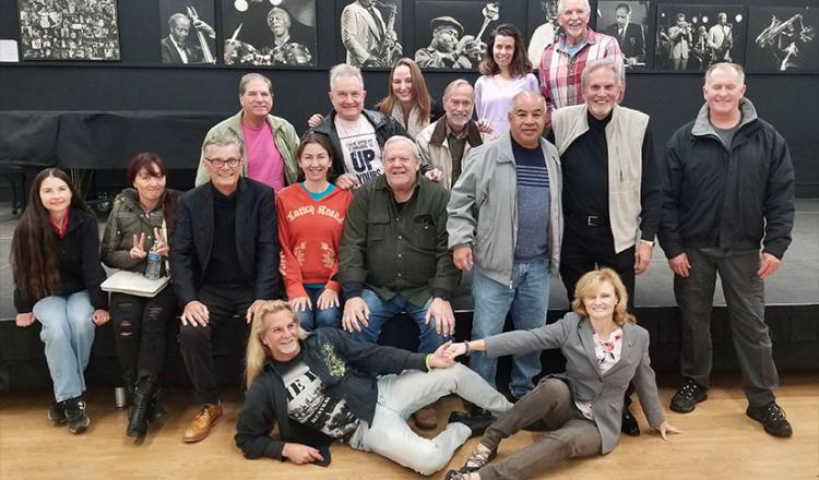 "San Diego Local members at the ""Reaction Shots on Camera"" workshop on Jan. 8. (Photo by Lou Slocum)"
