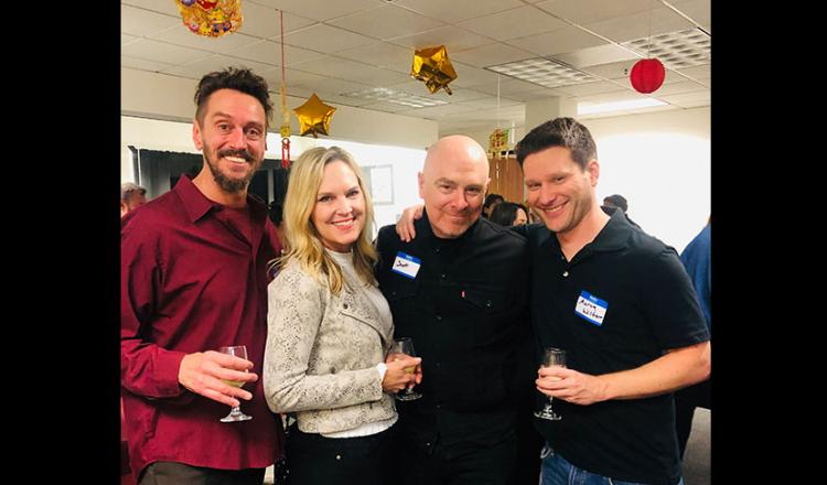S.F.-NorCal Committee member volunteers, from left, Michael Sommers, Diana Jackson, Scott Ragle and Aaron Wilton smile for the camera at our annual industry mixer.