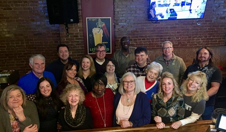 The Missouri Valley members, staff and guests at The Nano Pub in St. Louis on Jan. 27.