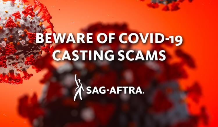 """Beware of COVID-19 Casting Scams"""