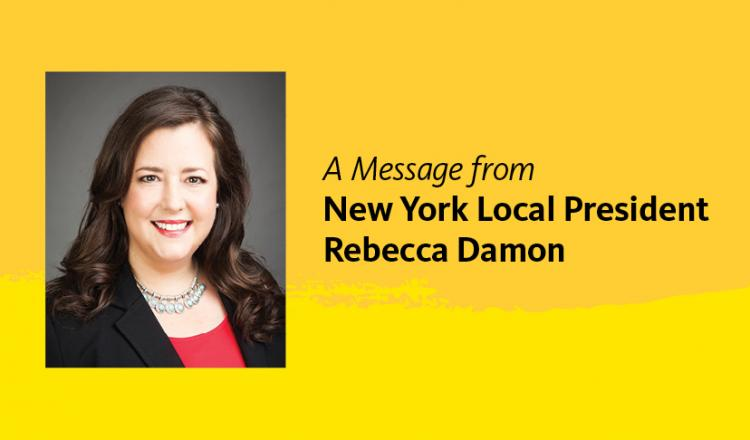 SAG-AFTRA Vice President, New York Local President, Rebecca Damon