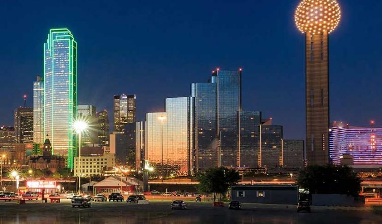 Imagen del horizonte de Dallas