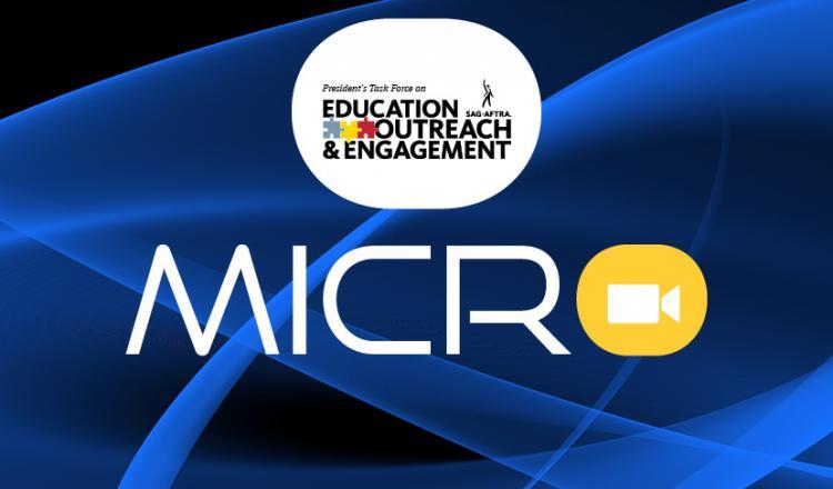 Centro superior del logo de PTEOE con 'MICRO' en amarillo debajo.
