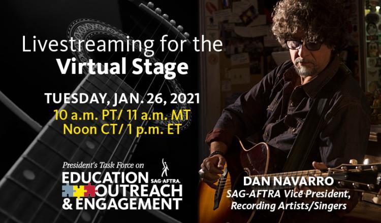 'Transmisión en vivo para el escenario virtual'