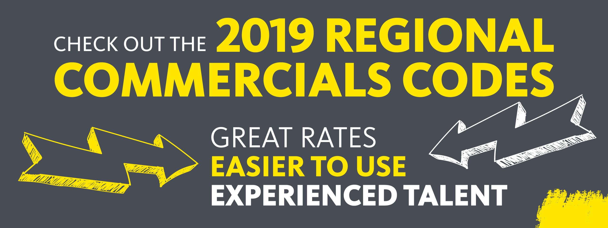 2019 Regional Commercial Codes