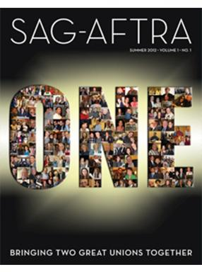 SAG-AFTRA Magazine Summer 2012 Cover