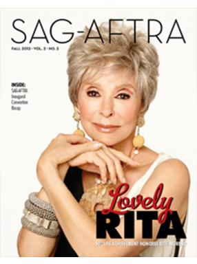 SAG-AFTRA Magazine Fall 2013 Cover