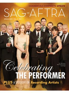SAG-AFTRA Magazine Spring 2013 Cover