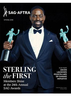 Spring 2018 Magazine Cover with Sterling K. Brown making SAG Awards History
