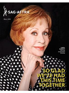 SAG-AFTRA Magazine Fall 2015 Cover