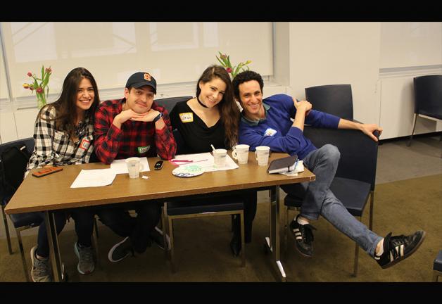 From left, NextGen Performers Subcommittee members Lillian Isabella, Nick Fondulis, Sarah Seeds and Evan Bass
