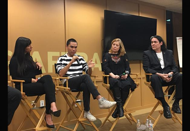 SAG-AFTRA members Elizabeth Frances and Forrest Goodluck, casting director Rene Haynes and member Atticus Todd
