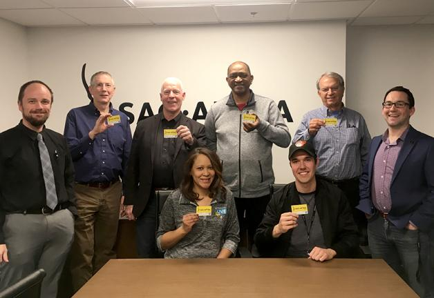 "Washington-Mid Atlantic members show their cards at the ""SAG-AFTRA 101"" workshop."