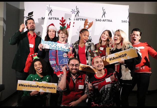 These members showed off union solidarity with a sprinkle of holiday spirit.