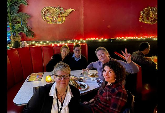 Seattle Local members at North Star Diner on Jan. 19.