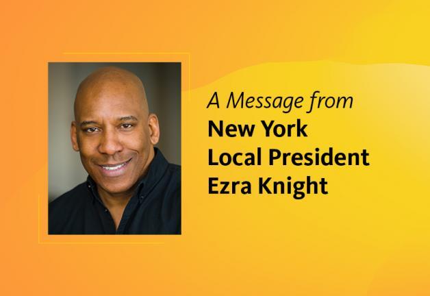 Un mensaje del presidente local de Nueva York, Ezra Knight