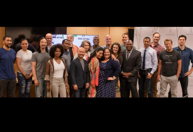 Participants at the On-Camera Audition Bootcamp for Military Veterans class at SAG-AFTRA Plaza on Aug. 22.