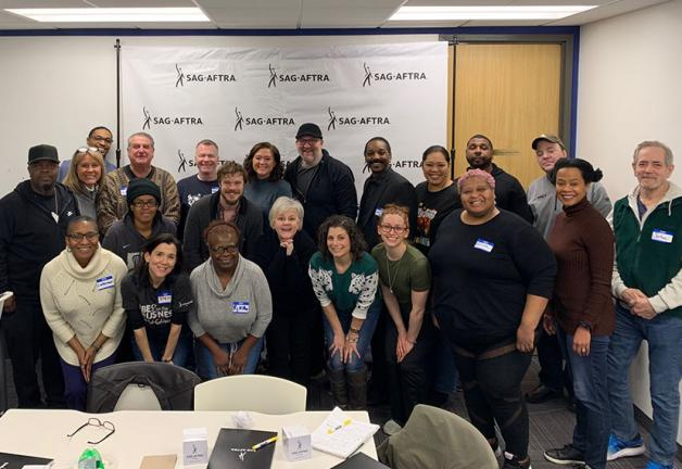 New members celebrate joining SAG-AFTRA.