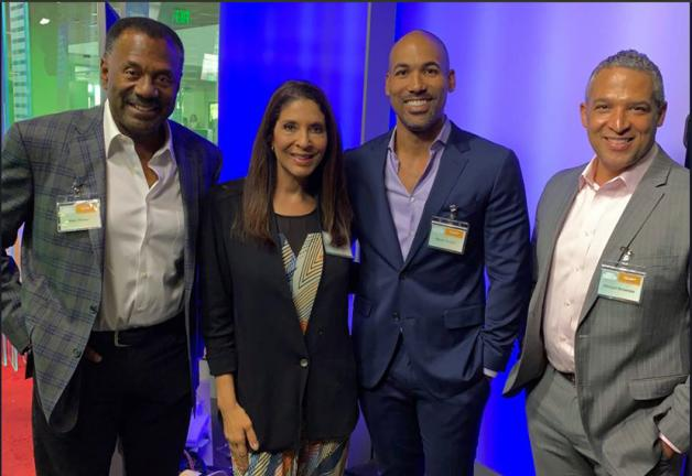From left, SAG-AFTRA Los Angeles broadcasters Marc Brown, Christine Devine, Melvin Robert and Michael Brownlee.
