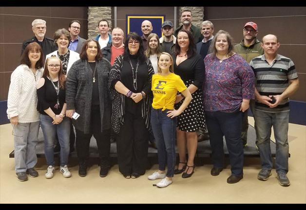 Photo: Nashville Local Vice President Carla Christina Contreras, front row, center, at the Northeast Tennessee Entertainment Alliance meeting. Photo courtesy of Tim Rumsey.