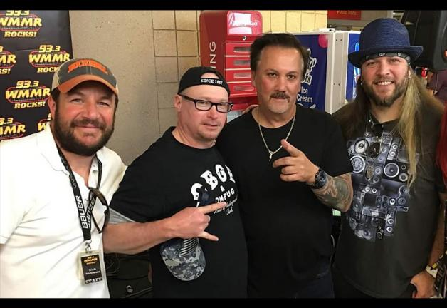 From left, member and WMMR DJ Nick McIlwain, National Board member Mike Kraycik, Local Board member John R. Mitchell, and member and WMMR DJ Brent Porsche.