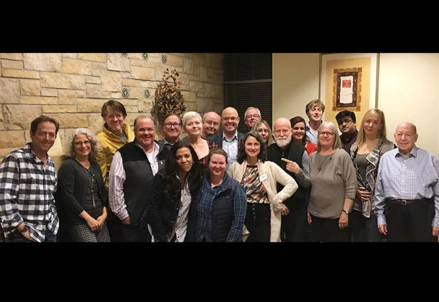 Twin Cities Local members are joined by Minnesota State Rep. Dave Lislegard and MN Film & TV Executive Director Melodie Bahan, center, at the membership meeting on Nov. 18.