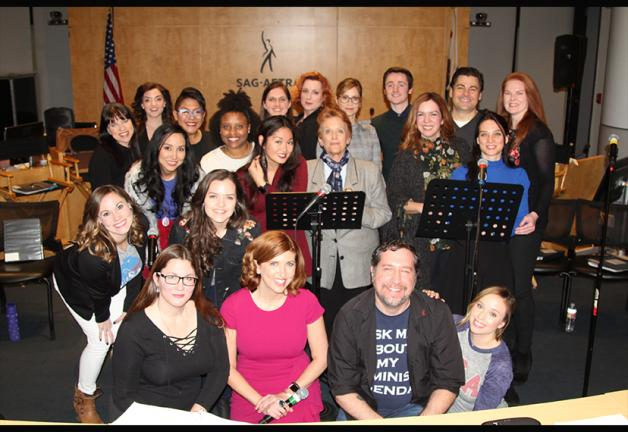 """El elenco y el equipo del nuevo musical """"Glass Ceilings"""" en el SAG-AFTRA Plaza el 20 de febrero."""