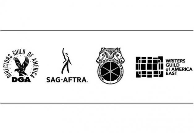 Logotipos de DGA, SAG-AFTRA, Teamsters y WGA