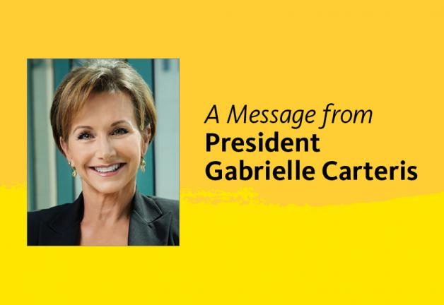A message from President Gabrielle Carteris