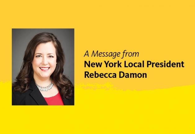 SAG-AFTRA Vice President, New York Local President, Rebecca Damon