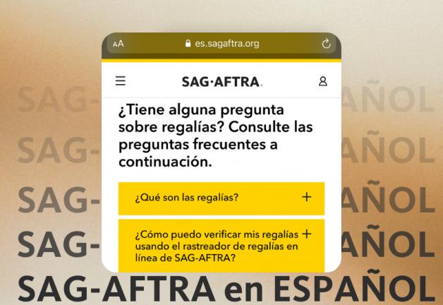 SAG-AFTRA lanza sitio web en español