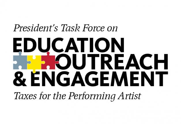 """President's Task Force on Education, Outreach and Engagement Present's Taxes for the Performing Artist"""
