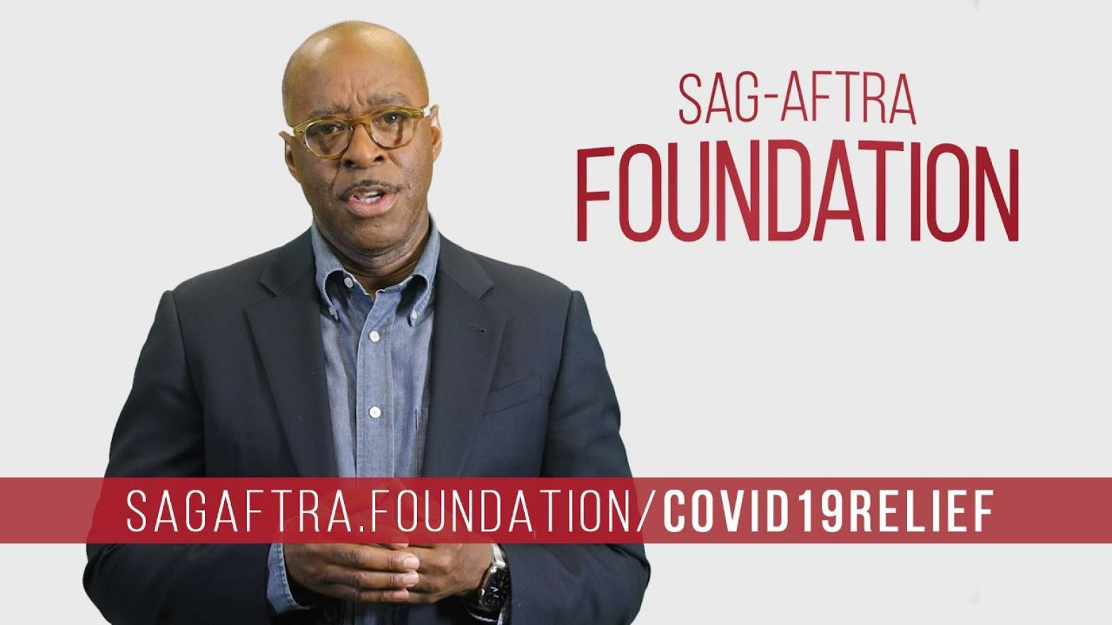 SAG-AFTRA Foundation President Courtney B. Vance speaking about the SAG-AFTRA Foundation COVID-19 Disaster Relief